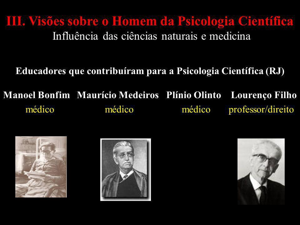 Educadores que contribuíram para a Psicologia Científica (RJ)