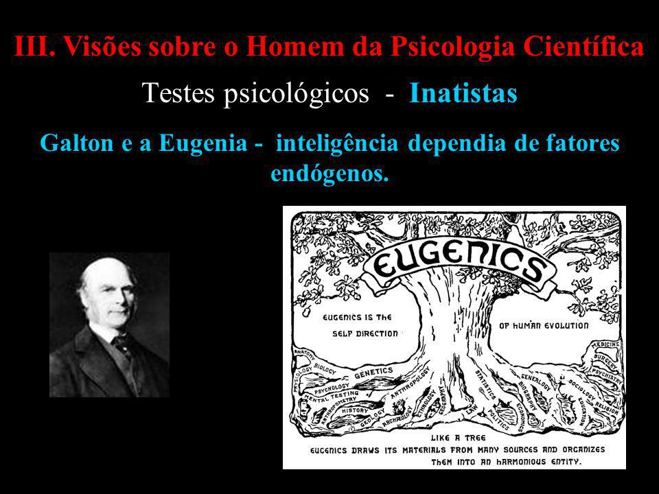 Galton e a Eugenia - inteligência dependia de fatores endógenos.