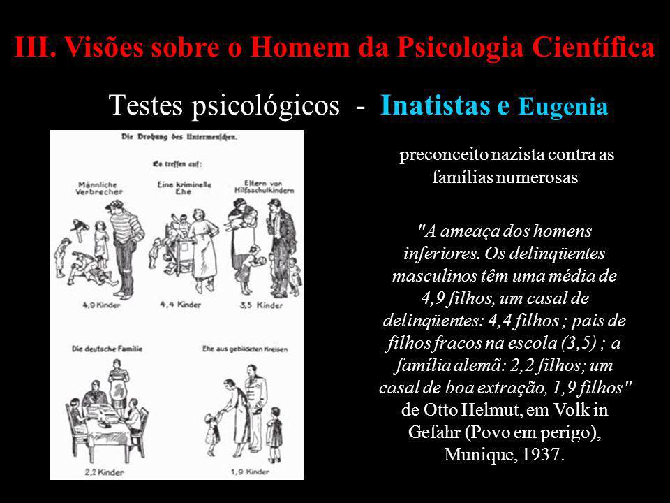 Testes psicológicos - Inatistas e Eugenia