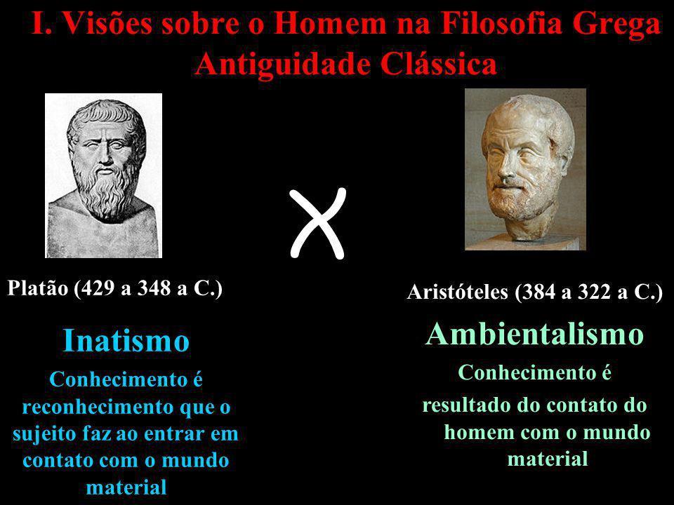 I. Visões sobre o Homem na Filosofia Grega Antiguidade Clássica