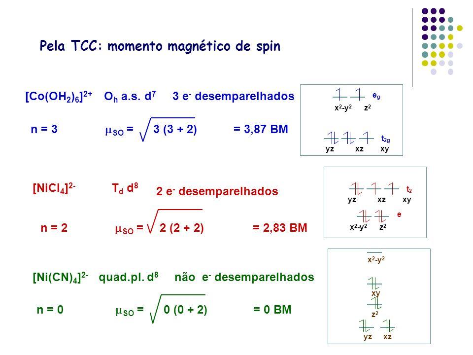 Pela TCC: momento magnético de spin
