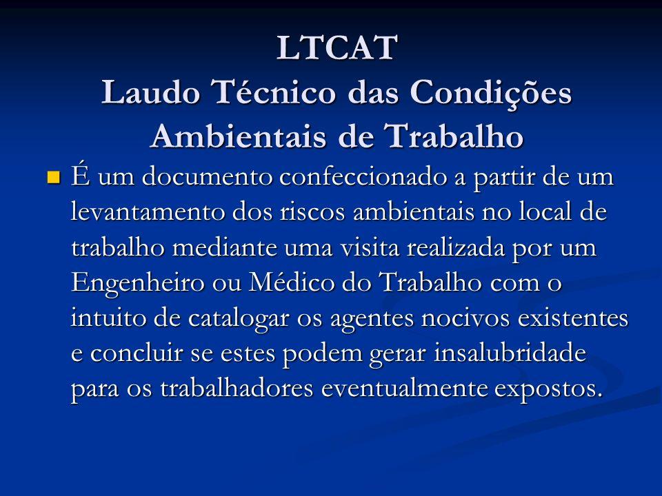 LTCAT Laudo Técnico das Condições Ambientais de Trabalho
