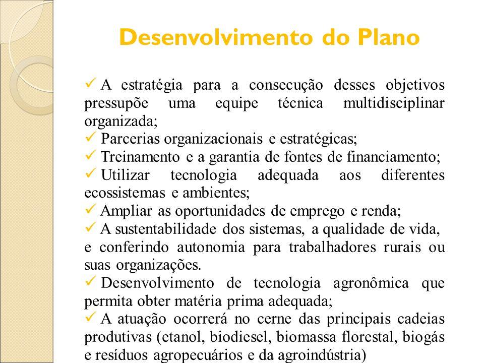 Desenvolvimento do Plano