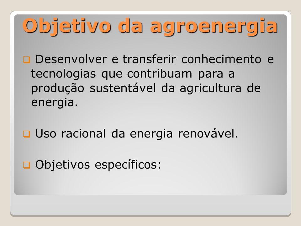 Objetivo da agroenergia