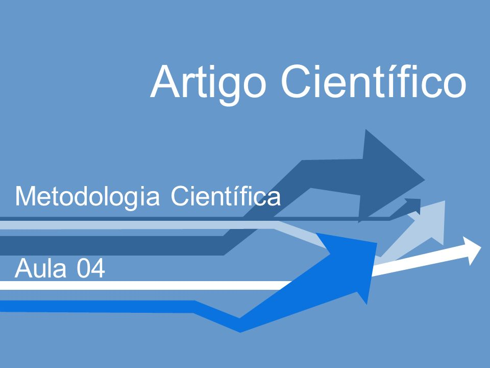 Metodologia Científica Aula 04