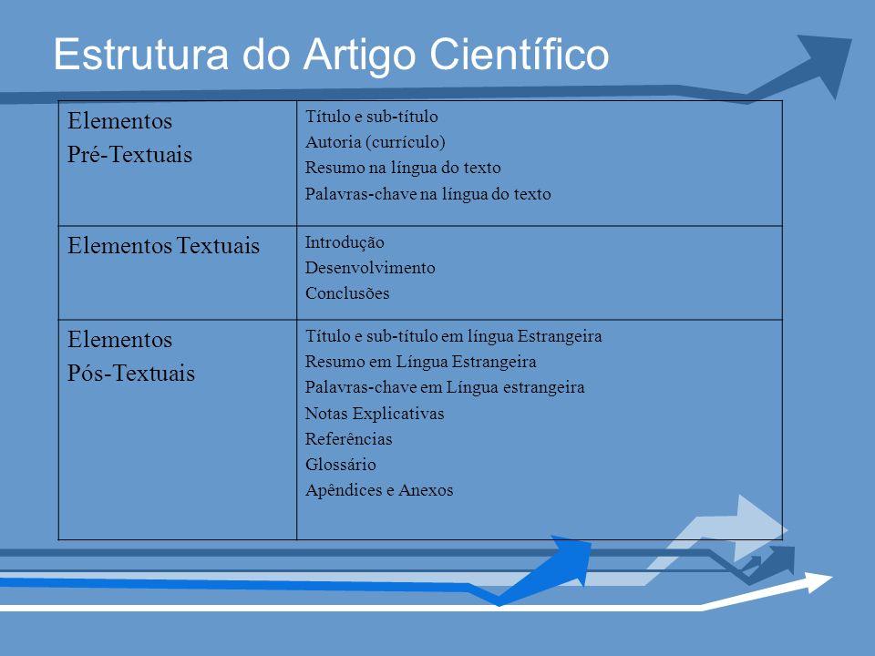 Estrutura do Artigo Científico