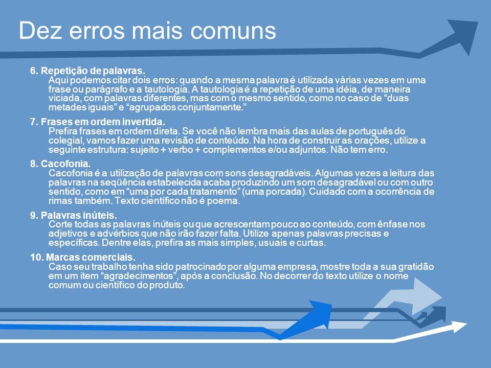 Dez erros mais comuns