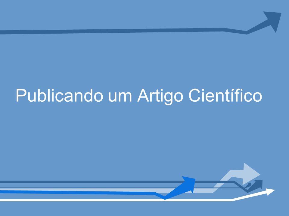 Publicando um Artigo Científico