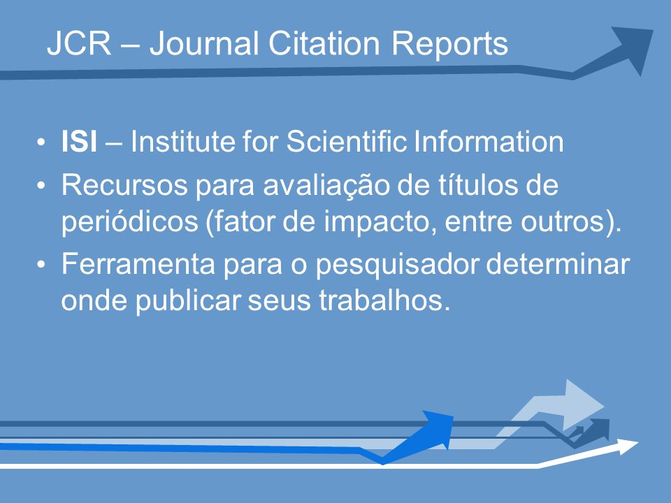 JCR – Journal Citation Reports