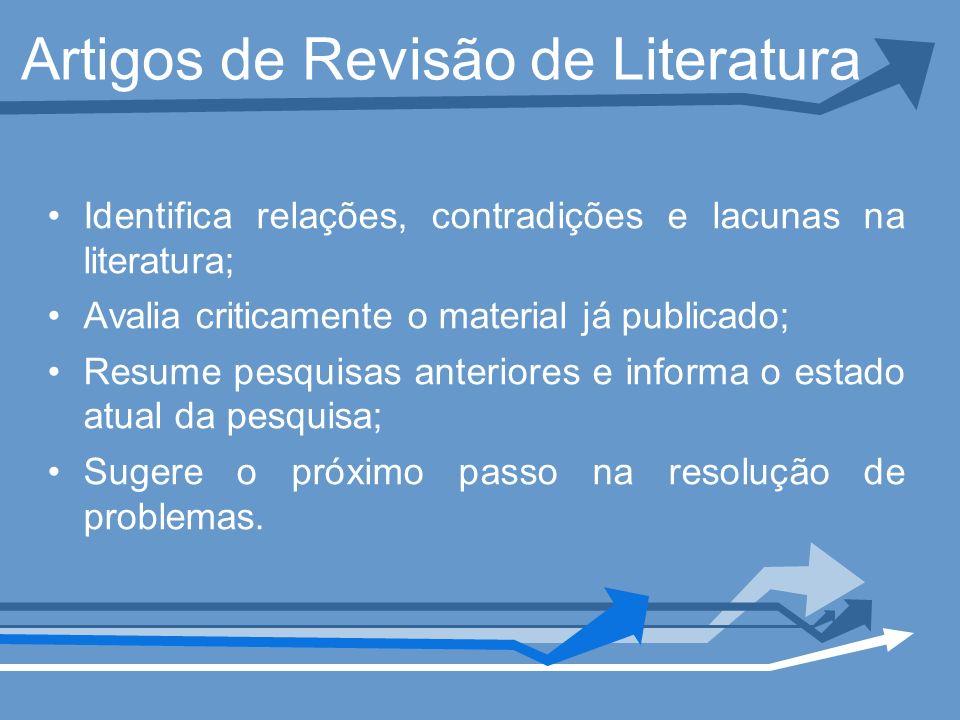 Artigos de Revisão de Literatura