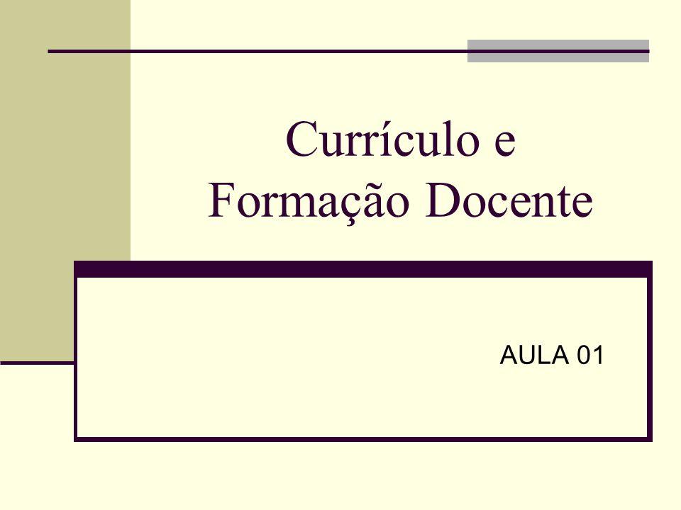Currículo e Formação Docente