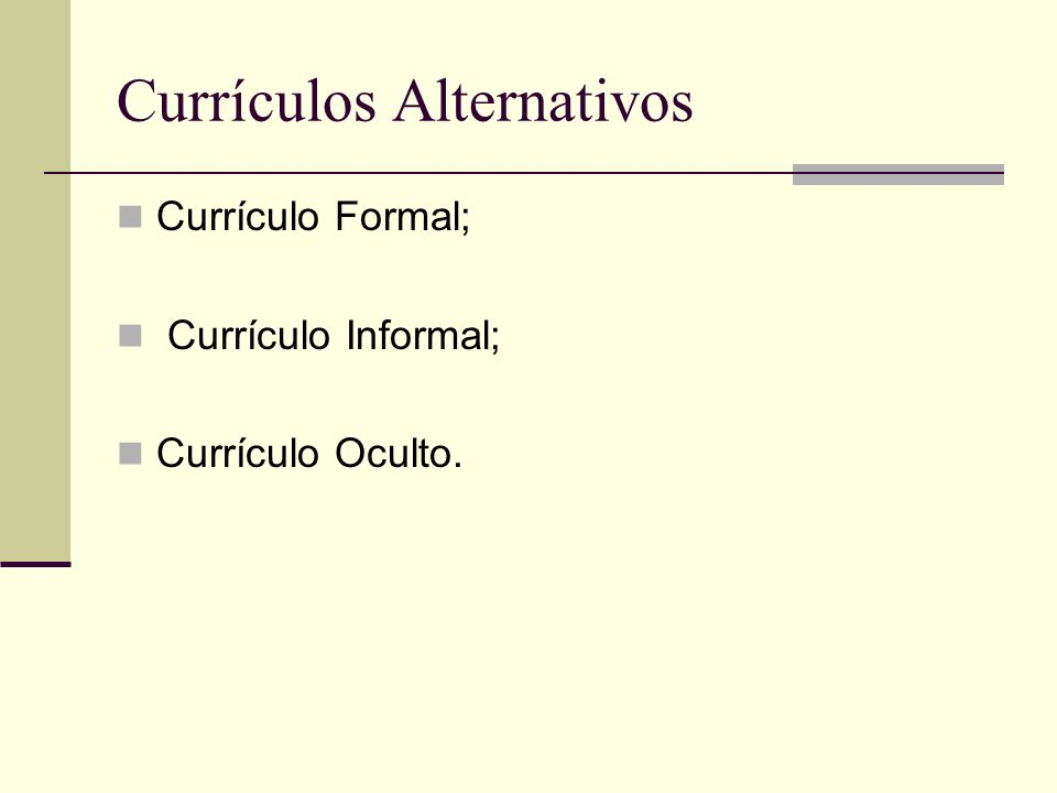 Currículos Alternativos