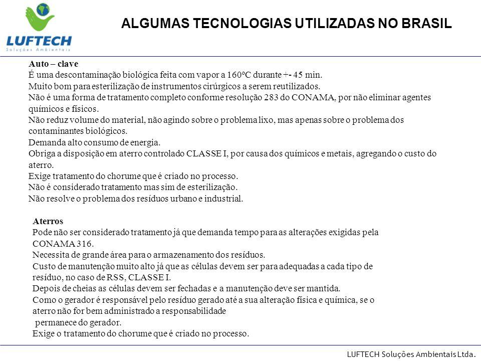 ALGUMAS TECNOLOGIAS UTILIZADAS NO BRASIL