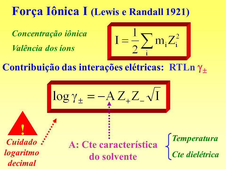 Força Iônica I (Lewis e Randall 1921)