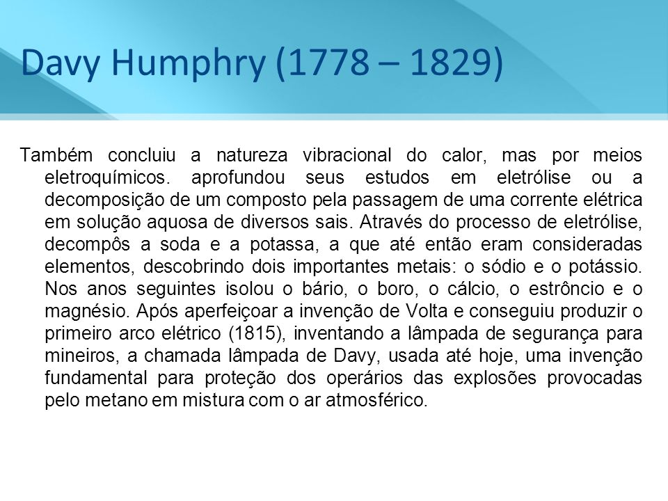 Davy Humphry (1778 – 1829)