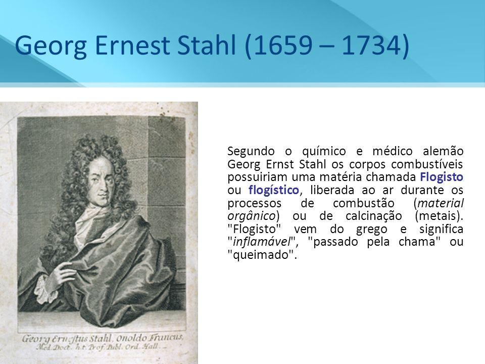 Georg Ernest Stahl (1659 – 1734)