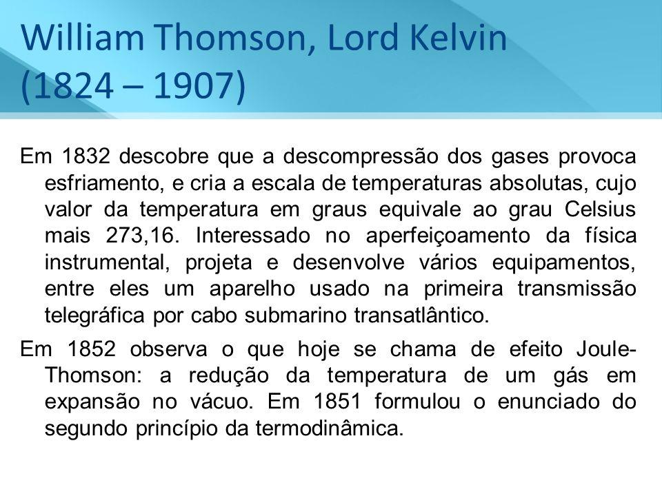 William Thomson, Lord Kelvin (1824 – 1907)