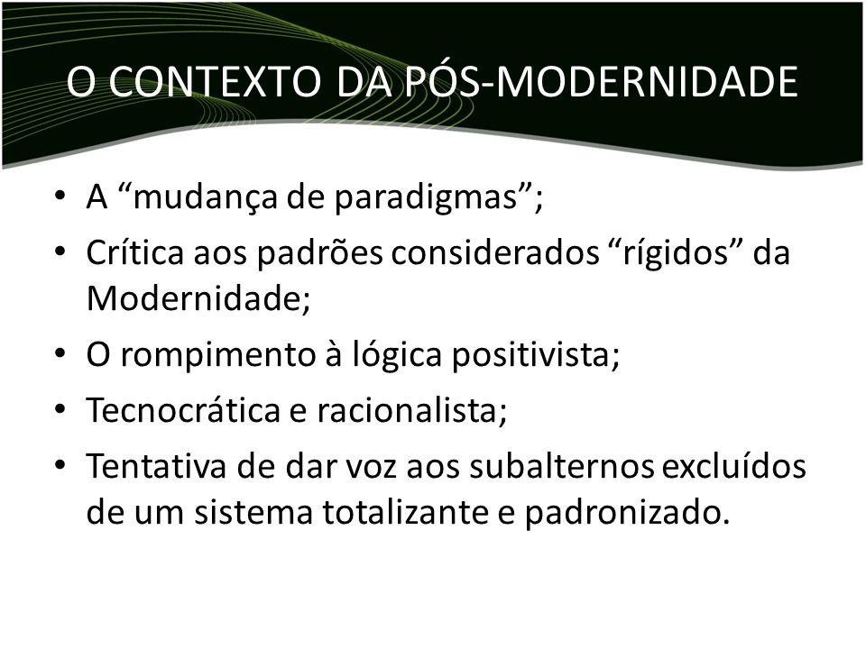 O CONTEXTO DA PÓS-MODERNIDADE