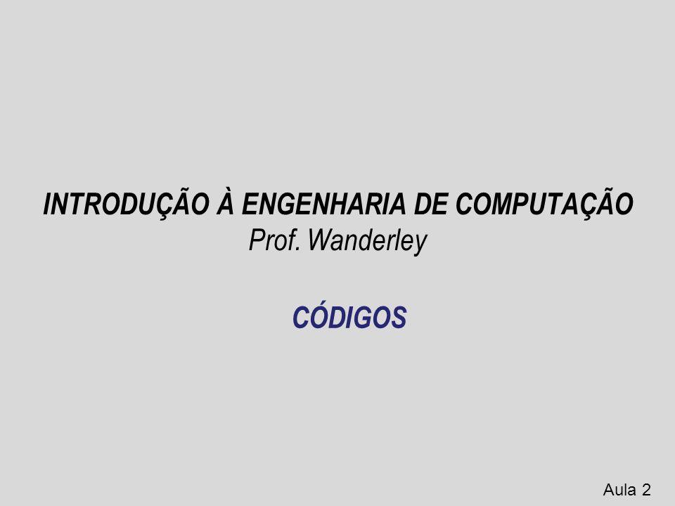 INTRODUÇÃO À ENGENHARIA DE COMPUTAÇÃO Prof. Wanderley