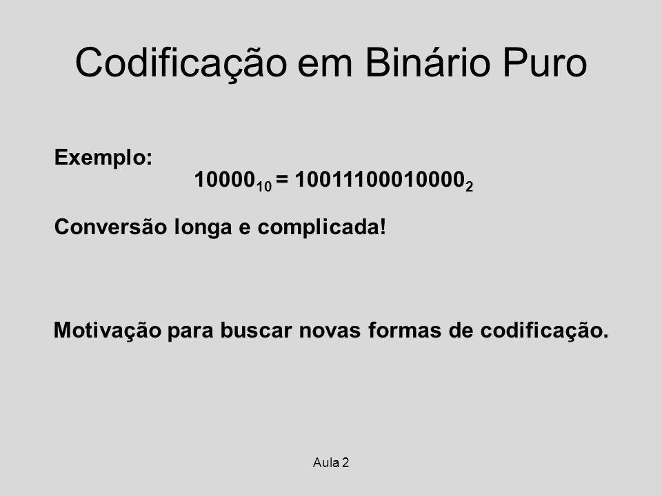 Codificação em Binário Puro