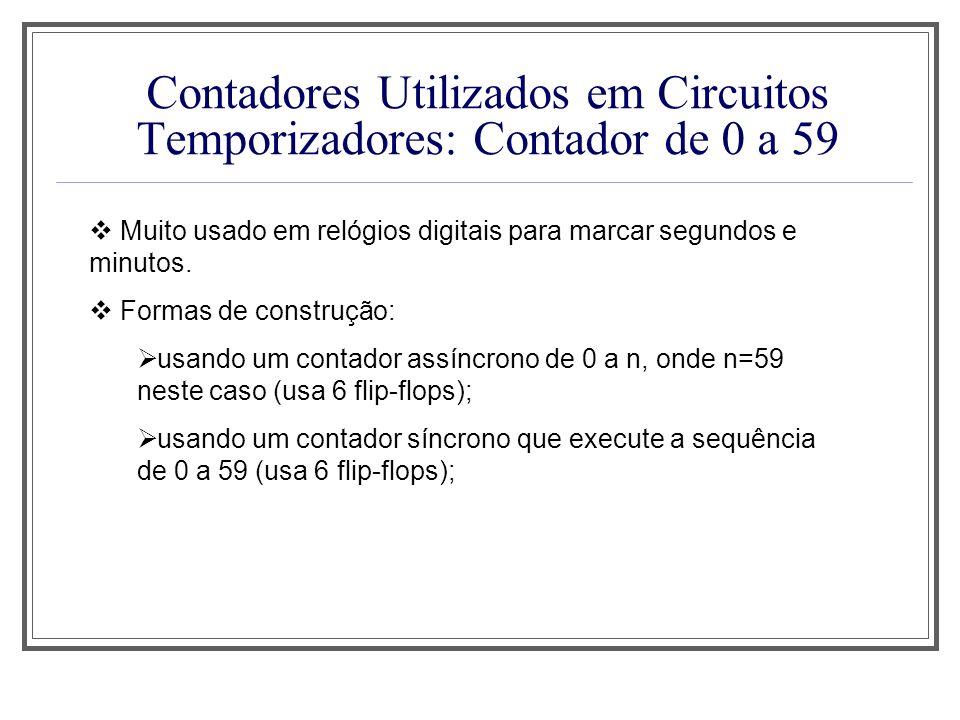 Contadores Utilizados em Circuitos Temporizadores: Contador de 0 a 59