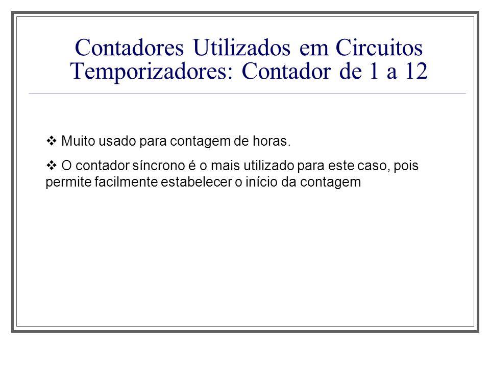 Contadores Utilizados em Circuitos Temporizadores: Contador de 1 a 12