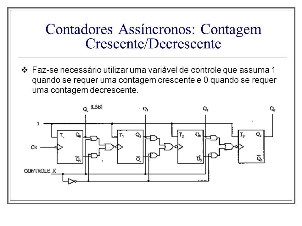 Contadores Assíncronos: Contagem Crescente/Decrescente