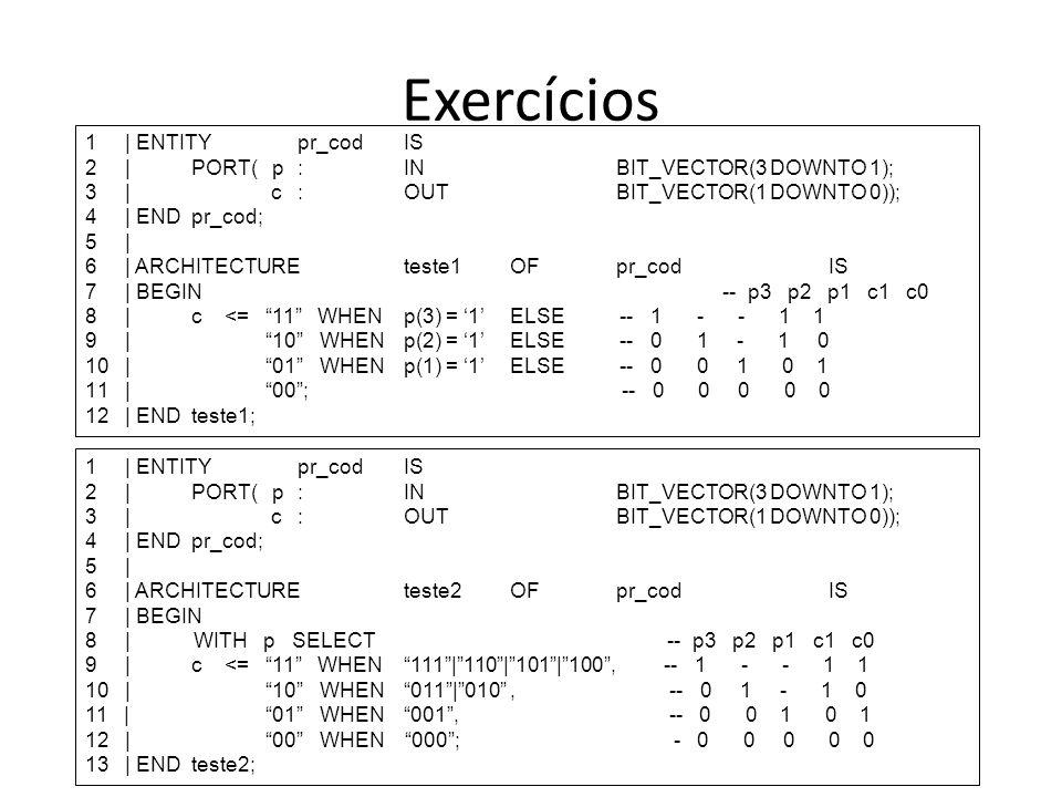 Exercícios 1 | ENTITY pr_cod IS
