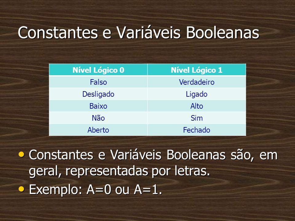 Constantes e Variáveis Booleanas