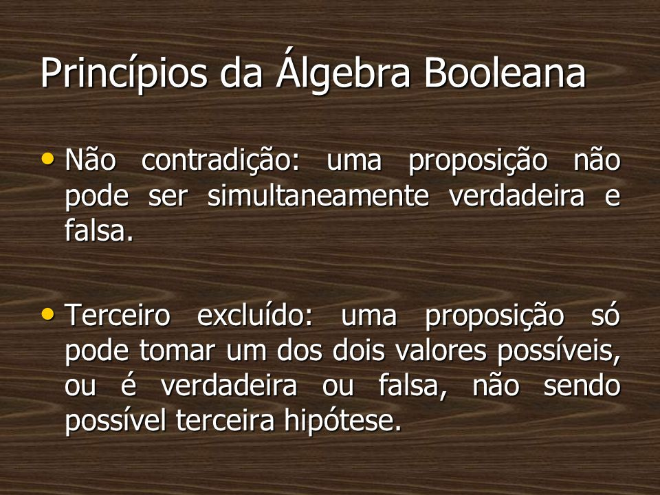 Princípios da Álgebra Booleana