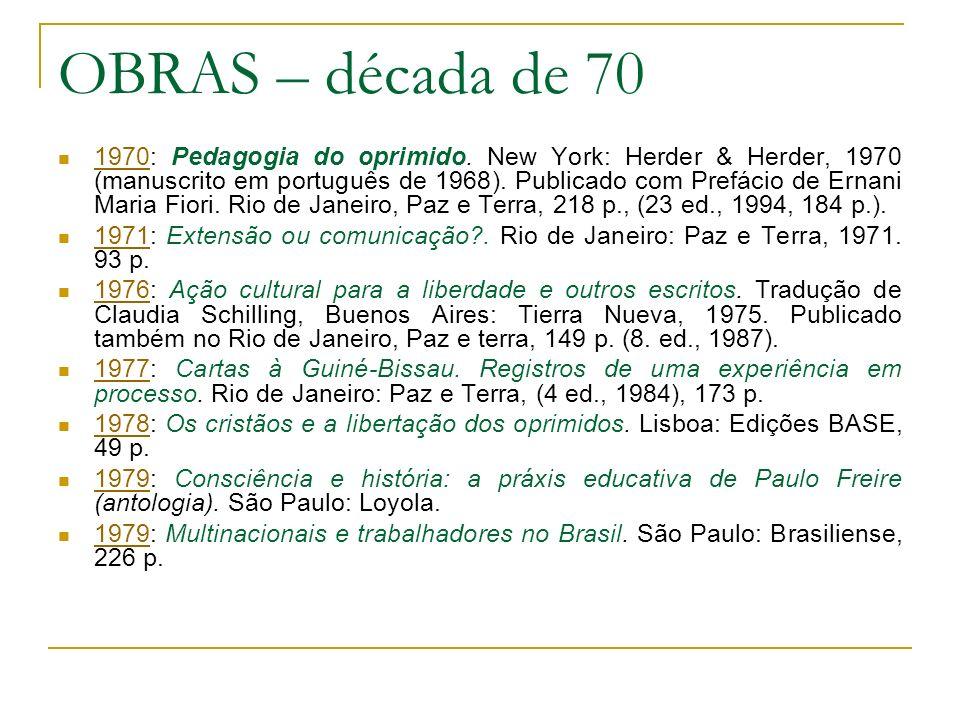 OBRAS – década de 70