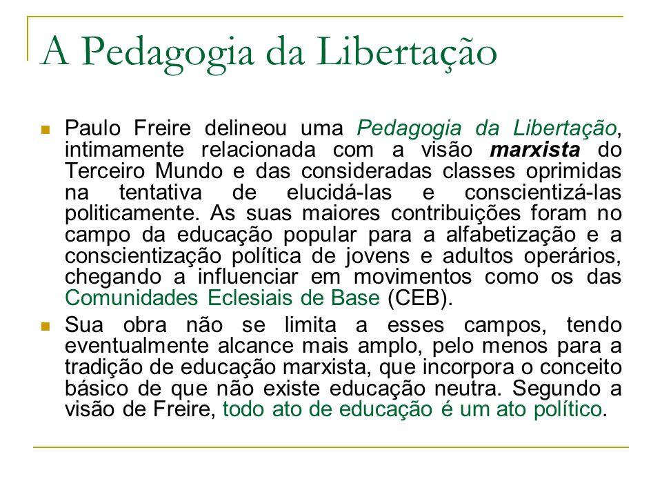 A Pedagogia da Libertação