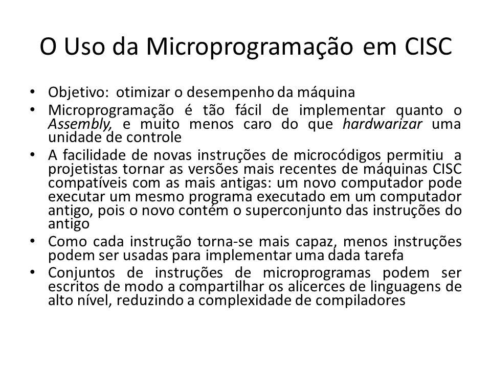 O Uso da Microprogramação em CISC