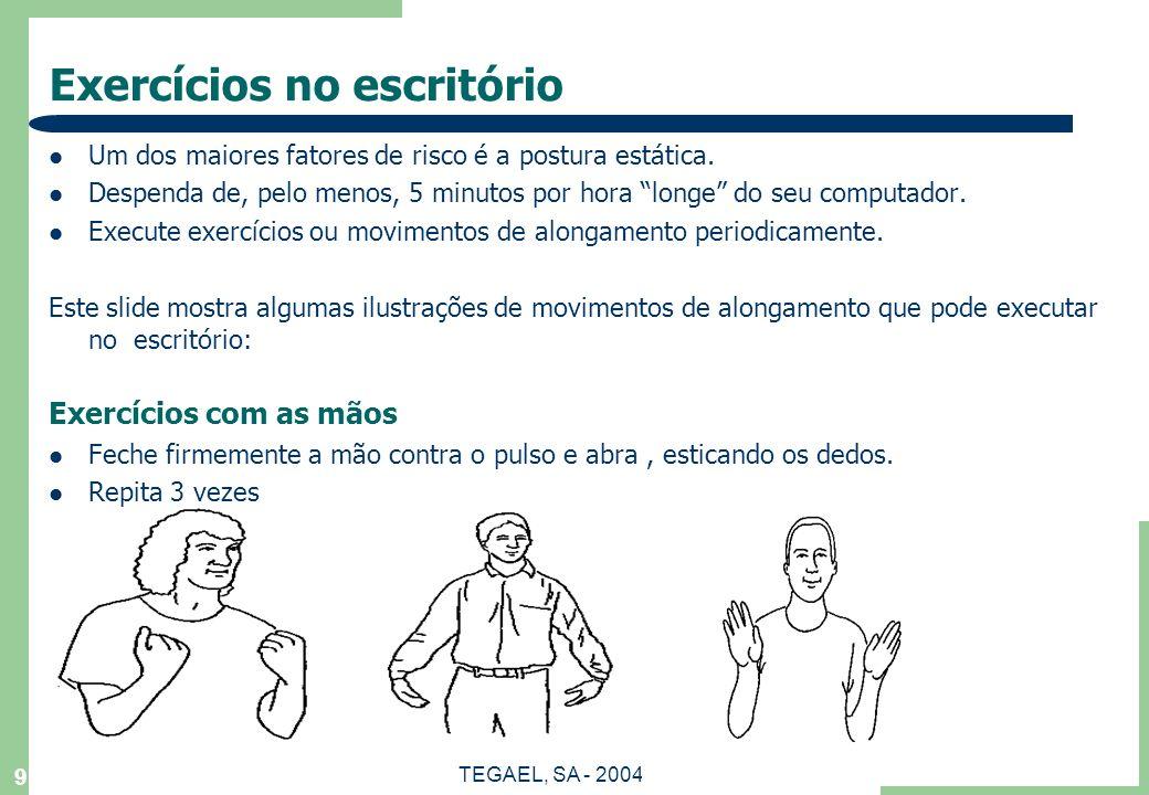Exercícios no escritório
