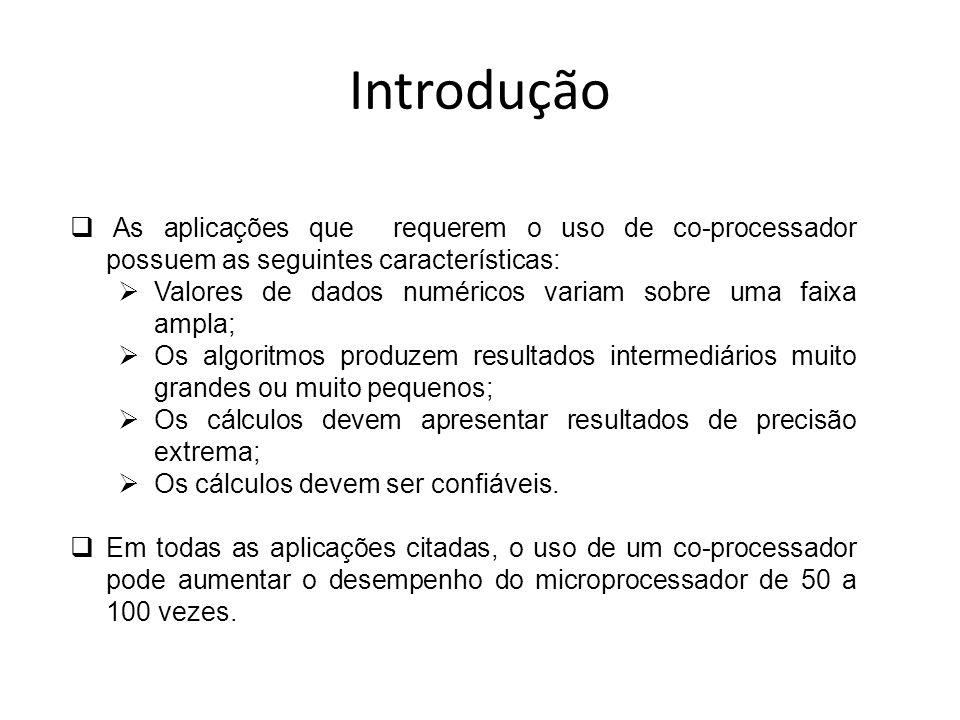 IntroduçãoAs aplicações que requerem o uso de co-processador possuem as seguintes características:
