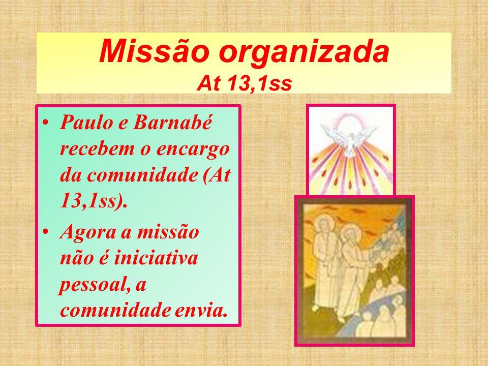 Missão organizada At 13,1ss