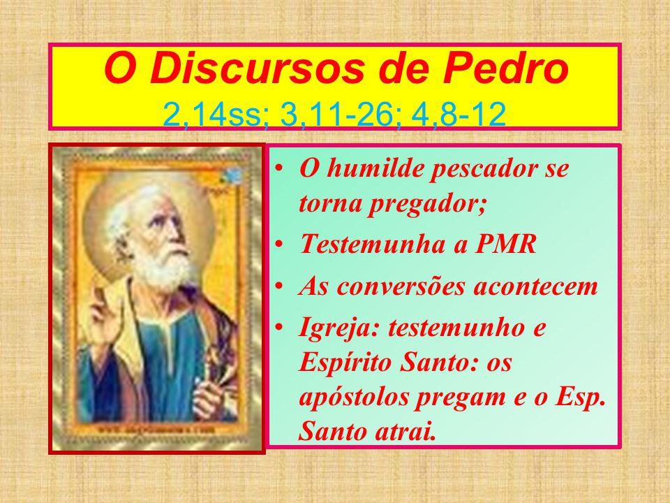 O Discursos de Pedro 2,14ss; 3,11-26; 4,8-12