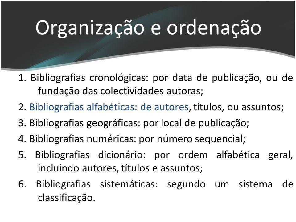 Organização e ordenação