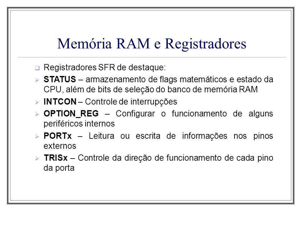 Memória RAM e Registradores