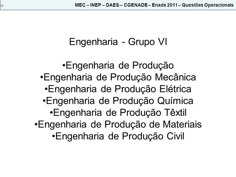 Engenharia de Produção Engenharia de Produção Mecânica