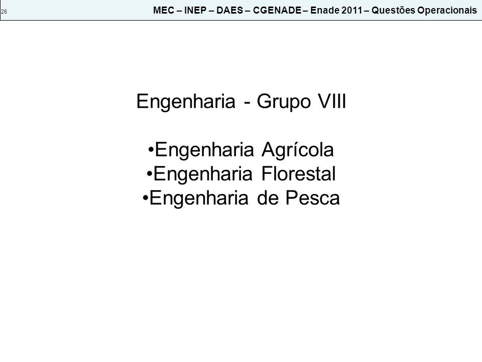 Engenharia - Grupo VIII