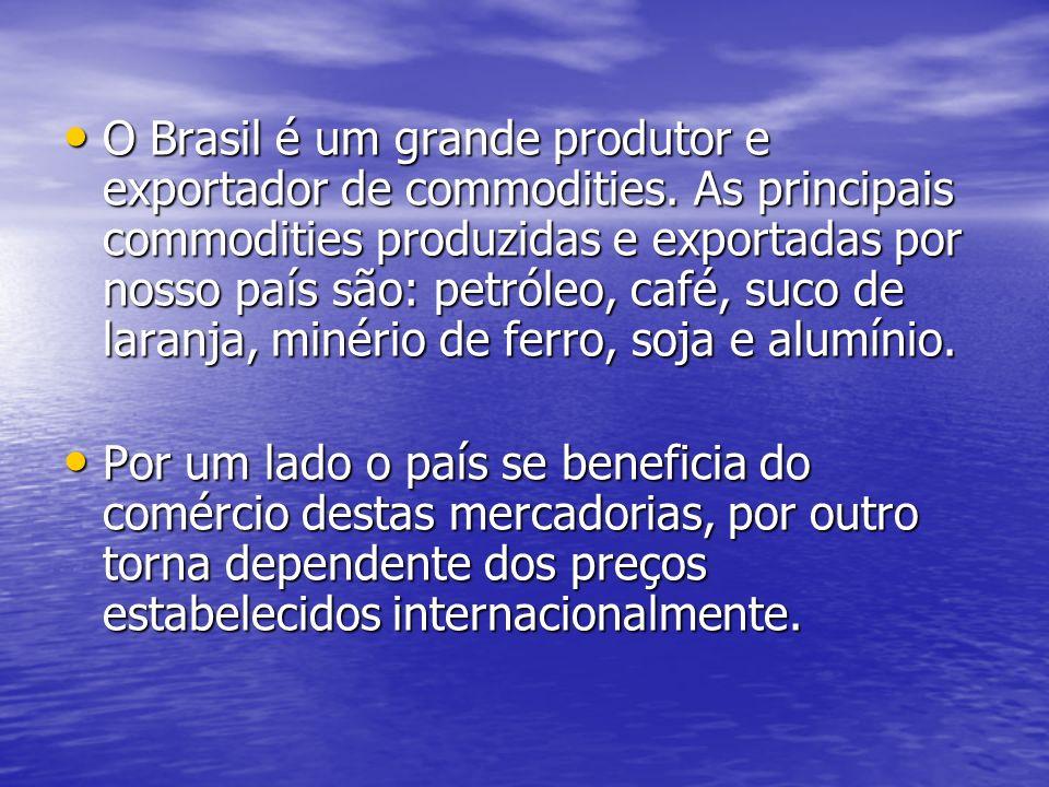 O Brasil é um grande produtor e exportador de commodities