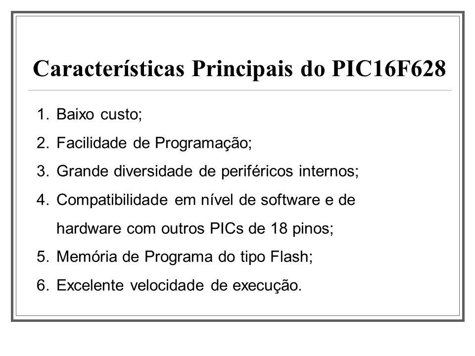 Características Principais do PIC16F628