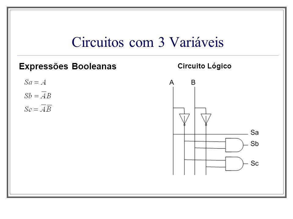 Circuitos com 3 Variáveis