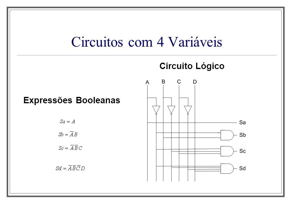 Circuitos com 4 Variáveis