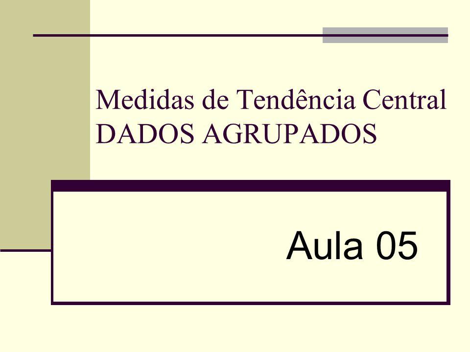 Medidas de Tendência Central DADOS AGRUPADOS
