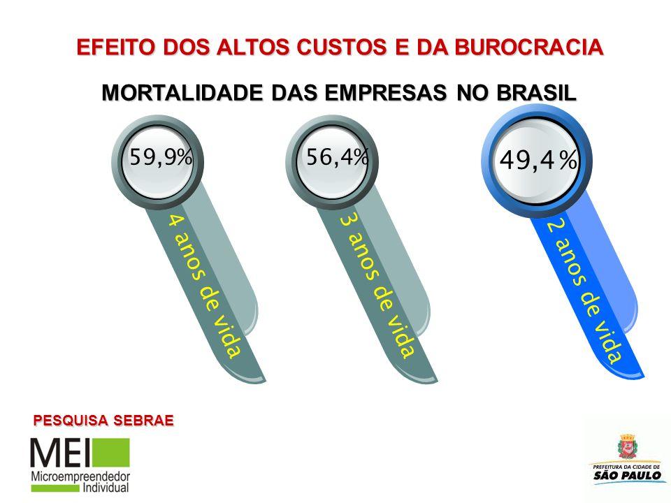 EFEITO DOS ALTOS CUSTOS E DA BUROCRACIA