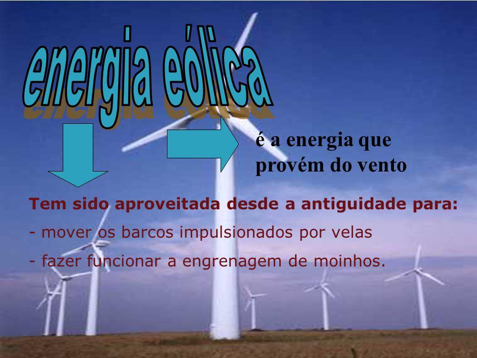 energia eólica é a energia que provém do vento