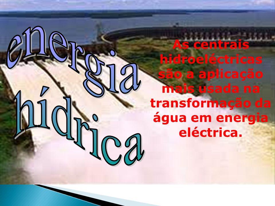 energia hídrica.