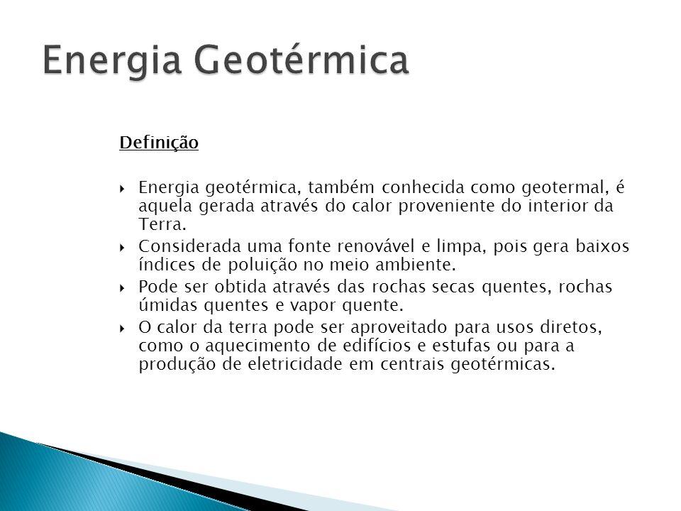 Energia Geotérmica Definição